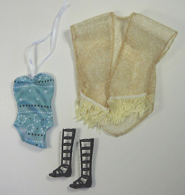 Mattel Barbie Doll Clothes Toys R Us Exclusive Swimsuit Cover Up Boots