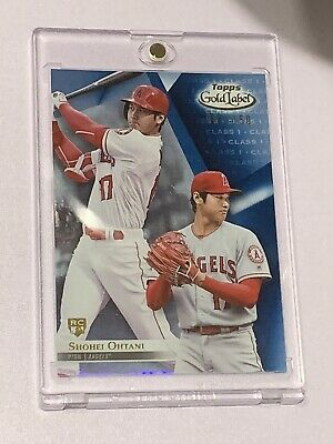 2018 Shohei Ohtani Topps Gold Label RC Class 1 Blue  #87/150 Los Angeles Angels