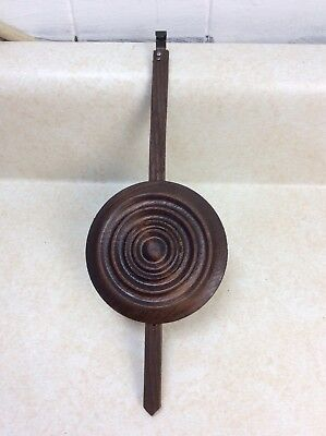 Antique German Black Forest Cuckoo Clock Pendulum, Bullseye Style.