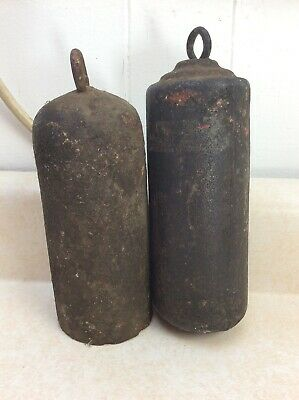 Antique Original Tall Case Clock Weights