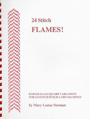 24 STITCH FLAMES! by Mary Louis Norman - 4 Color Bargello Jacquard Patterns