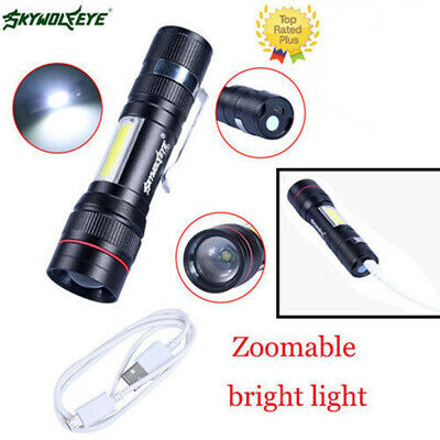 60000LM Portable Flashlight Zoom 3Mode T6 18650bty Torch/Lamp Rechargable Light