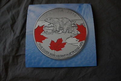 Canada 25 for $25 Silver Coin #3 - True North (2016) - Coloured Coin