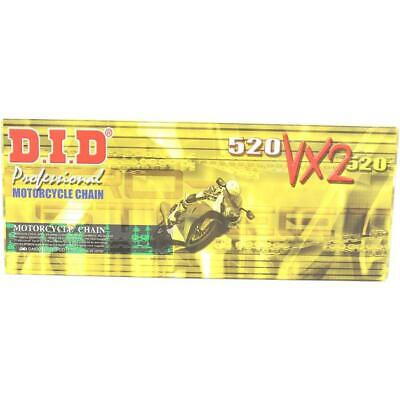 DID 520 VX2 Pro-Street X-Ring Chain 112 Links Gold