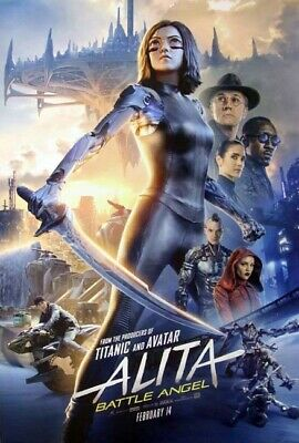 ALITA: BATTLE ANGEL great original 27x40 D/S movie poster LOW INVENTORY (th049)