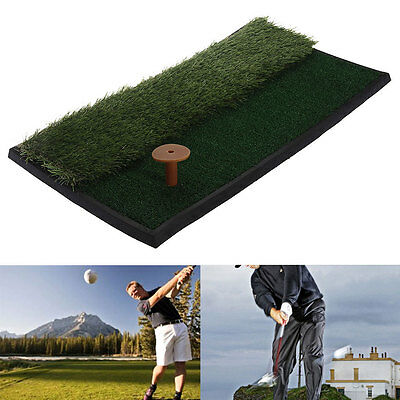 Resistente Golf Conducir Chipping Esterilla 63x32cm con Doble Altura Grass Tee