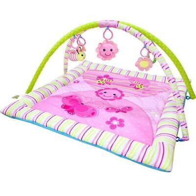 New Dancing Flowers Musical Baby Portable Fitness Play Gym Thick Lay Mat Gifts