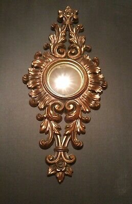 Vintage Mid Century Turner Ornate Gold Wall Mirror Baroque Style