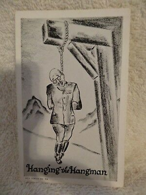 WWII Postcard Tojo Hanging From Gallows