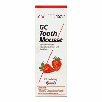 GC Tooth Mousse (Strawberry) 40 gm (Free shipping worldwide) New Original
