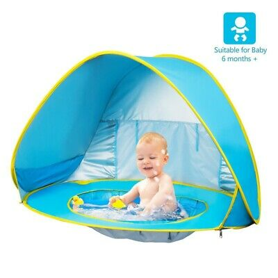 UK Portable Baby Beach Tent Shelter Sun UV Shade Up Canopy Fishing Camping Tent