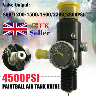 4500psi HPA Air Tank Regulator Valve M18x1.5 Thread Fit Paintball PCP Game UK
