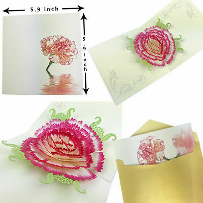 3D Pop Up Card Valentine Handmade Art Greeting Cards Birthday Gifts Anniversary