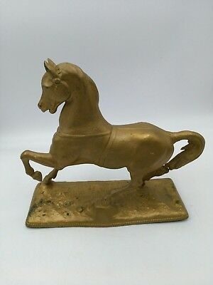 Rare Antique N.Muller & Sons Spelter Horse Clock Topper Figurine 9""