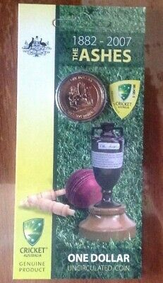 """💰2007 $1 Australian """"The Ashes"""" 1882-2007 Carded Coin RAM"""