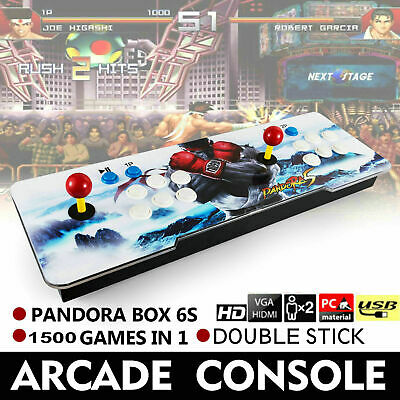 New Pandora Box 6s 1500 in 1 Retro Video Games Double Stick Arcade Console