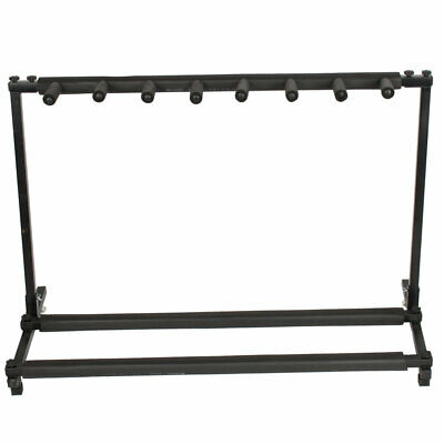 7 Guitar Rack Stand – Folding Seven Multiple Stage Storage Bass Holder Mount