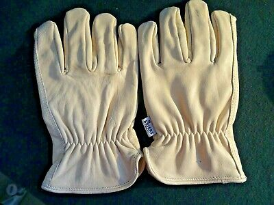 Briars Cream Lined Elasticated Wrist Leather Gardening Gloves