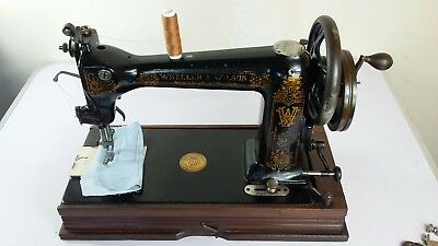 RARE & BEAUTIFUL ANTIQUE WHEELER AND WILSON D9 Sewing Machine, SERVICED