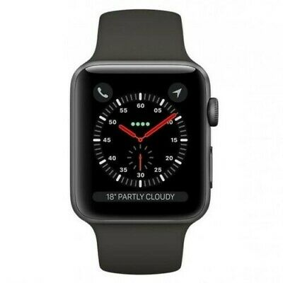 Apple Watch Series 3 42mm GPS + Cellular LTE Space Gray/Black Sport Band