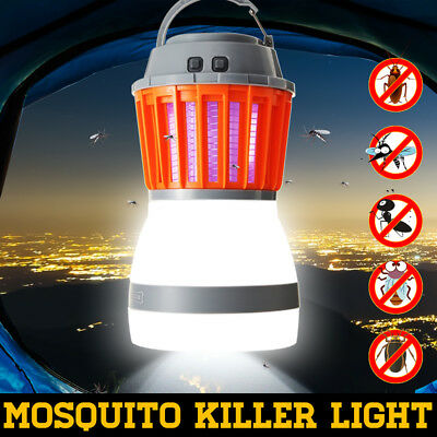 Solar USB UV LED Fly Insect Bug Pest Mosquito Trap Zapper Killer Night Lamp Bulb