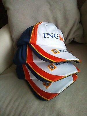 Lot de 3 casquettes NEUVES ING/RENAULT F1 (Fernando Alonso) vers 2007