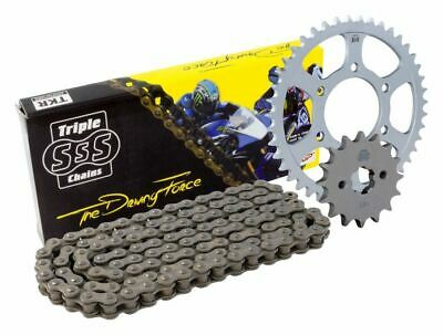 Triple-S Black HD Chain and Sprocket Kit 14 / 43 T Yamaha YBR125 Custom 08-10