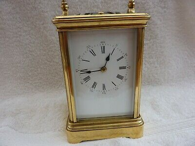 Brass Carriage Clock .antique,repeater.  =For Repair