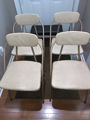 Cosco, STYLAIRE--Vintage Folding Chairs--Set of Four (4)