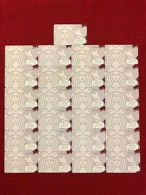 25 New Starbucks 2014 White Siren Special Edition Gift Cards Lot 6107 Limited
