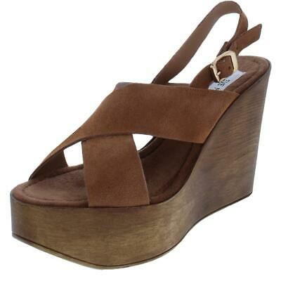 e1cfd6127df Steve Madden Womens Bali Suede Slingback Wedge Platform Sandals Shoes BHFO  3043