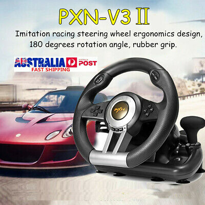 PXN V3II Game Racing Steering Wheel With Brake Pedal For PC And Xbox One