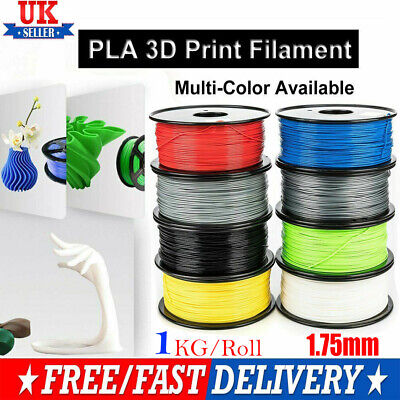 3D Printer Filament PLA 1.75mm 1KG(340Meters) Various Colours Available UK STO