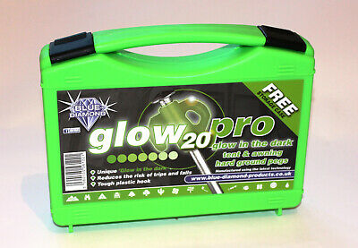 Outdoor Revolution Glow Hard Ground Tent & Awning Pegs (Case of 20) Heavy Duty
