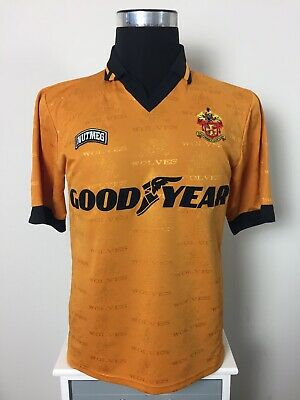 Wolverhampton Wanderers Wolves Home Football Shirt Jersey 1995/96 (M)