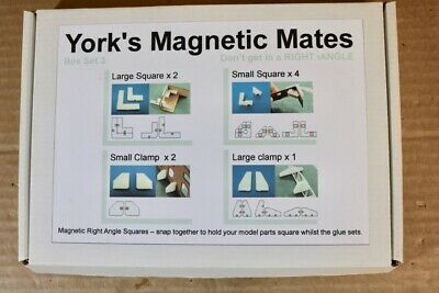 YORK'S MAGNETIC MATES BOX SET 3 KIT BUILT making Right Angles whilst glue sets