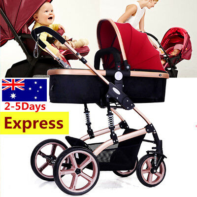 3 in 1 High View Pram Travel System Combi Stroller Buggy Baby Child Pushchair