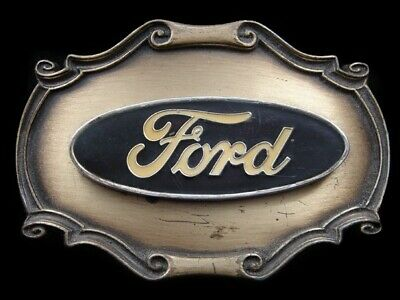 Ri15117 Vintage 1978 **Ford** Motor Company Logo Advertisement Belt Buckle