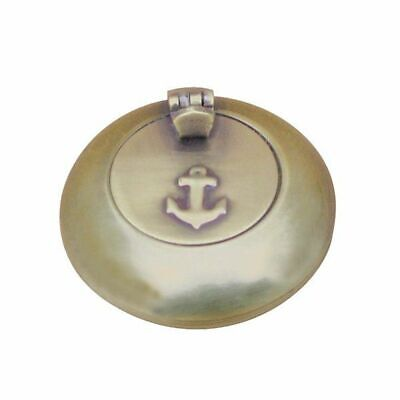 G4251: Maritime Folding Ashtray, Marine Ashtray, Antique Brass 6 Cm