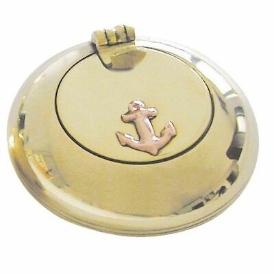 G4248: Maritime Folding Ashtray, Marine Ashtray, Brass Copper 6 Cm