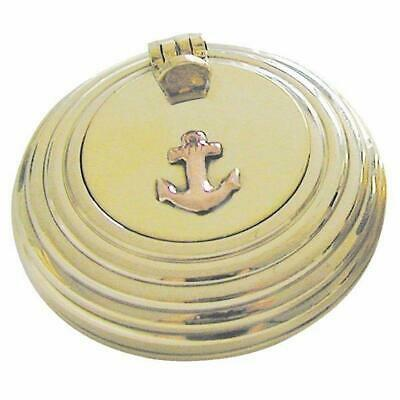 G4256: Maritime Folding Ashtray Grooved, Marine Wind Ashtray, Brass 6 Cm
