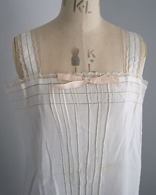 Antique 1920s linen chemise from France - unused