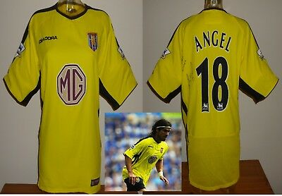 Aston Villa football shirt Away J.P. Angel Signed Colombia New York Red Bulls