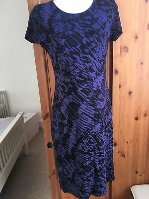 Mamas and Papas Purple and Black Maternity Dress - Size 8.