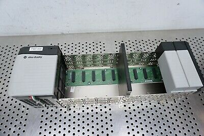 Allen Bradley 1756-PA72 ser C Power Supply w/ 1756-A10 ControlLogix 10 Slot Rack