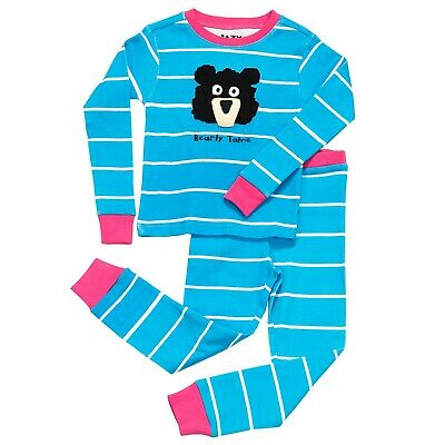 LazyOne Mädchen Bearly Tame Kinder Pyjama Set Langarm