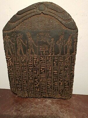 Rare Antique Ancient Egyptian Stela Book Dead Gods Anubis Horus Amun1427–1401BC