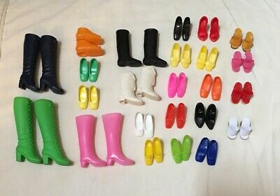 24 Pair Of Older Barbie Shoes And Boots