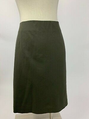 c959d2045e0 J. Jill Olive Green Ponte Stretch Straight Pencil Skirt Large Excellent