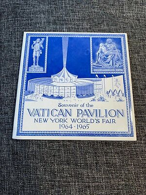 Vintage Souvenir Tile Vatican Pavilion New York World's Fair 1964-1965
